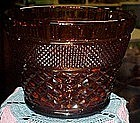 Anchor Hocking Wexford bowl or ice bucket, dark amber