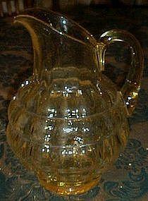 Rare Fostoria topaz bulbous pitcher line #4101