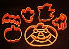 Halloween cookie cutter shapes, 6 assorted