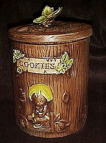Treasure craft butterflies and boy cookie jar
