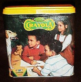 Crayola collectible tin 2001, also a bank, Hallmark