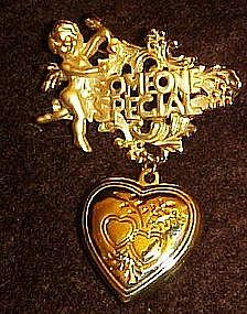 Giovanni Someone Special angel pin, with heart locket