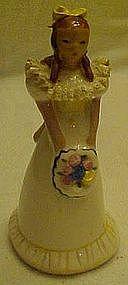 Vintage pottery girl figurine Eloise, by Ynez
