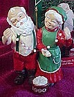Hallmark  ornament, Popcorn party, Mr. & Mrs. Claus