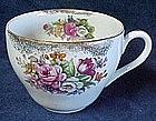 Vintange oversized coffee cup, roses and florals