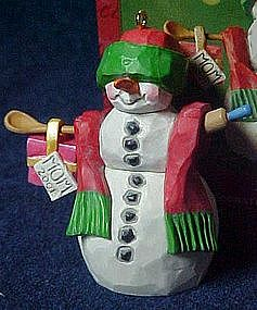 Hallmark keepsake ornament,Snow Mom, snowman