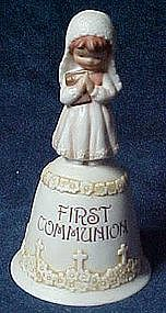 Enesco First Communion  porcelain bell, All the Lords..
