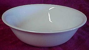 Corelle cereal bowl, al white, no pattern, by Corning