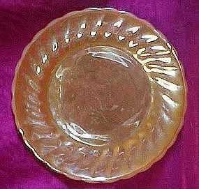 Anchor Hocking Fireking peach lustre shell salad plate