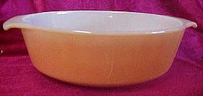 Anchor hocking copper tint 1 1/2 qt casserole bottom