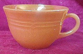 Fireking peach lustre  single cup, three bands pattern