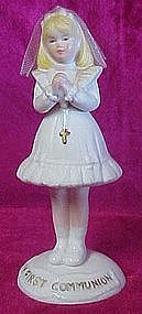 Enesco girls First Communion figurine 1988