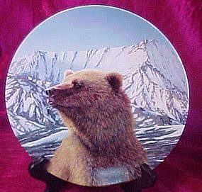 "Wild Spirits series, ""Mighty Presence"" collector plate"