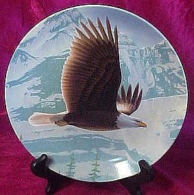 The Bald Eagle plate , by Daniel Smith,  Knowles china