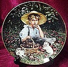 Under the apple tree, collector plate by Sandra Kuck