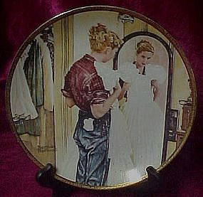 The Prom Dress collector plate, Saturday Evening Post
