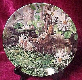 The Rabbit,  plate, Forest friends series, Knowles