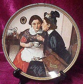 Norman Rockwell, Gossiping in the alcove plate.