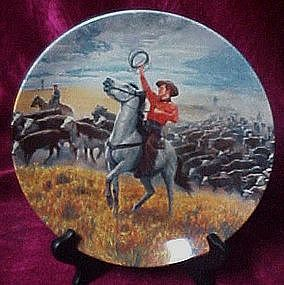 Oklahoma, collector plate, Mort Kunstler, Knowles