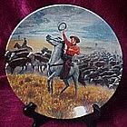 Oklahoma, collector plate, Mort Kunstler, Knowles