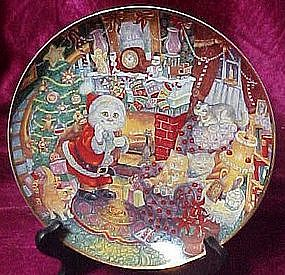 Not a creature was Purring, Christmas plate,  Bill Bell