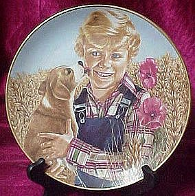 New Puppy, collector plate by Liz Moyes, Danbury mint
