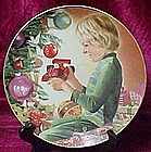 Christmas morning, plate by Liz Moyer, Danbury Mint