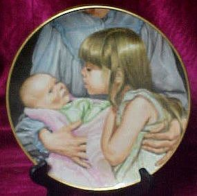 Welcoming the new baby plate, Liz Moyes, Danbury Mint
