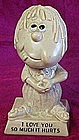 """Berries figurine, """"I love you so much it hurts"""" statue"""