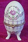 Floral porcelain egg trinket box