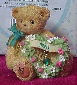 "Cherished Teddies ""May"" Sparkling Hearts mini figurine"