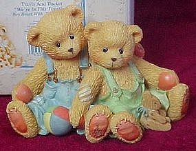 Cherished Teddies Travis and Tucker figurine # 127973
