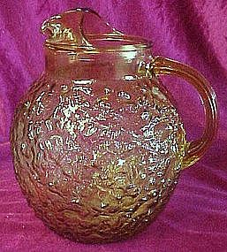 Anchor Hocking Milano or Lido amber  ball pitcher