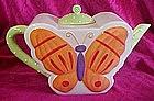Ellen Crans  ceramic Butterfly Tea pot,  Coynes & Co