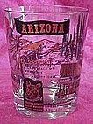 Arizona tourist  souvenir  glass, double old fashioned