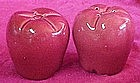 Red delicious apple salt and pepper shakers