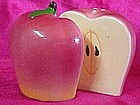 Red apple halves, ceramic  salt and pepper shakers
