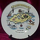 Souvenir plate Nassau Bahamas, Island of New Providence