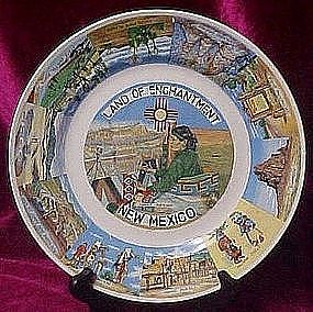 Vintage New Mexico scenic state plate