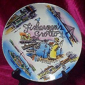 Souvenir  plate of San Francisco Fishermen's Grotto