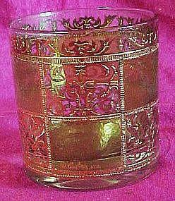 Green with gold elegant  whiskey bar glasses