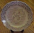 1968 calendar plate, four seasons, gold filigree