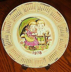 Adorable 1978 calendar plate, Alpine collection