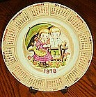 Adorable 1978 calendar plate, Alpine collection