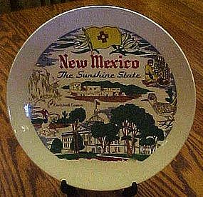 New Mexico  souvenir state plate, colorful attractions