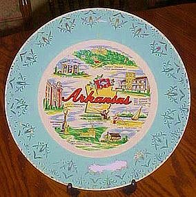 Vintage souvenir state plate from Arkansas