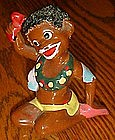 vintage Enesco African native figurine, coleslaw hair