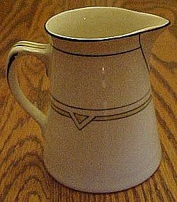 Steubenville China, deco pattern cream pitcher