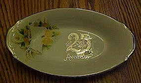 Lefton 25th Silver wedding anniversary dish