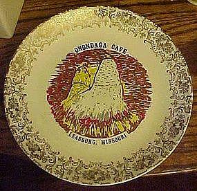 Vintage souvenir plate of Onondaga Cave, Leasburg MO.